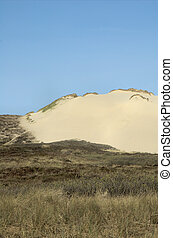 Sylt Dunescape 9 - Sand dune inmidst grass covered dunescape...