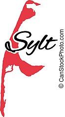 Sylt island map