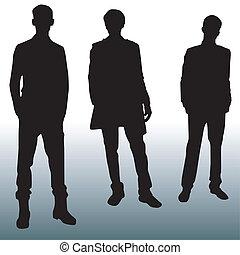 sylwetka, fason, mężczyźni