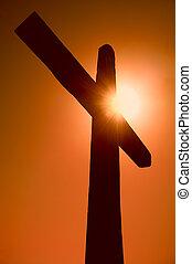 sylwetka, krzyż