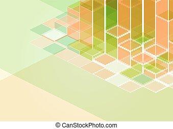 sylwetka, miasto, zabudowanie, kolor, ilustracja
