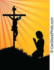 sylwetka, modlitwa