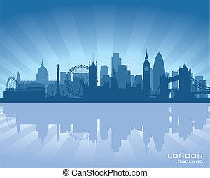 sylwetka na tle nieba, anglia, londyn