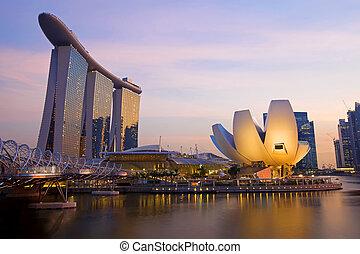 sylwetka na tle nieba, singapore