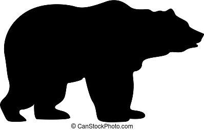 sylwetka, niedźwiedź