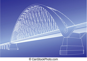 sylwetka, od, brama złotego most