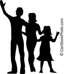 sylwetka, od, niejaki, rodzina