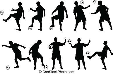 sylwetka, piłka nożna