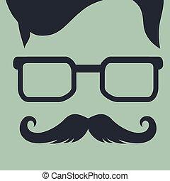 sylwetka, styl, fason, hipster