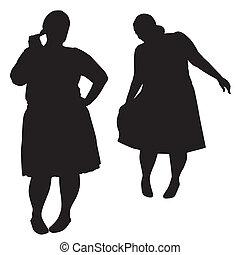 sylwetka, tłuszcz, kobiety