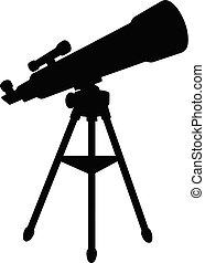 sylwetka, teleskop