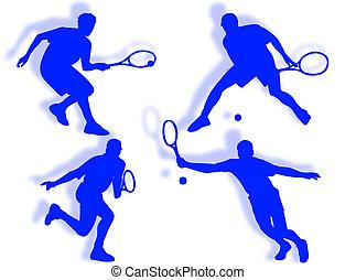 sylwetka, tenis