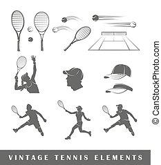 sylwetka, tenis, komplet