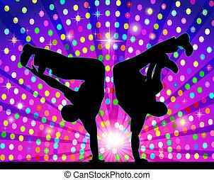 sylwetkowy, figura, taniec