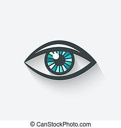symbol, ögon