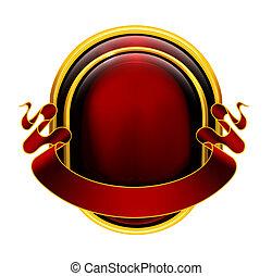 symbol, červeň, eps10