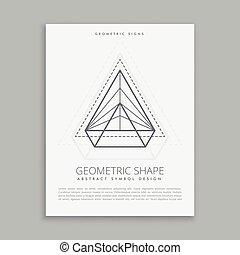 symbol, abstrakcyjny, geometryczny
