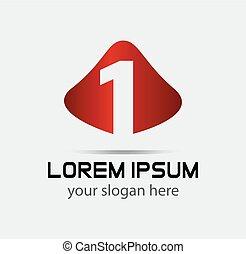 symbol, abstrakt, 1, zahl, logo, ikone