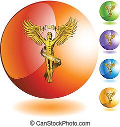 symbol, akupunktura