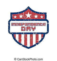 Symbol American Independence Day shield