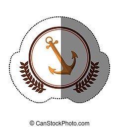 symbol anchor ships icon