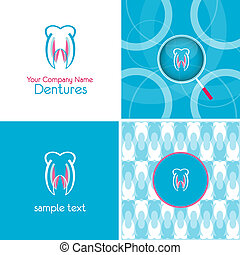 symbol and background for denture company