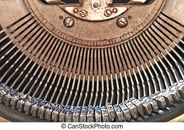 Symbol and mechanism of old typewriter.