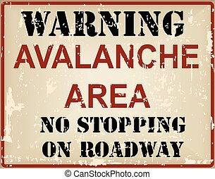 Symbol Attention Avalanche - Warning Avalanche Area No...