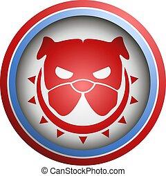 symbol, auflehnen, hund