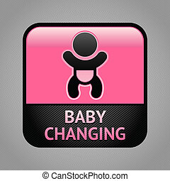 Symbol baby changing facilities - Baby changing facilities...