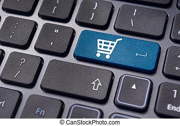 symbol, begriffe, einkaufswagen, online