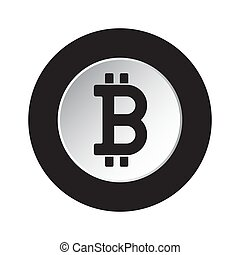 symbol, -, bitcoin, crypto, waluta, czarnoskóry, biały, ikona