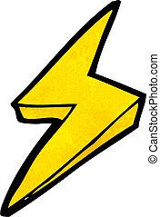 symbol, blixt regel, tecknad film