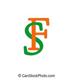 symbol, bunte, schriftart, design, brief, verbunden, vektor...
