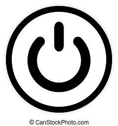 symbol, button., moc