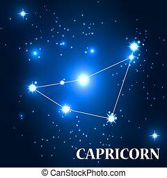 Symbol. Capricorn Zodiac Sign. Vector Illustration.