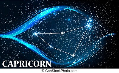 Symbol Capricorn Zodiac Sign. Vector Illustration.