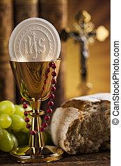 Symbol christianity religion, communion background -...