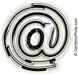 symbol, chrzcielnica, techniczny
