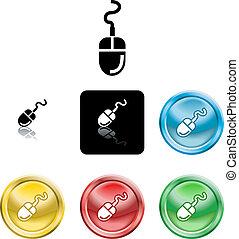 symbol, computermaus, ikone