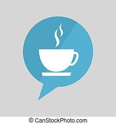 symbol cup coffee hot design