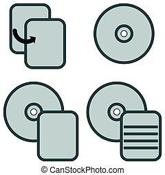 Symbol data processing grey icon.
