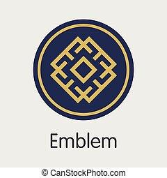 symbol, digitální, měna, -, vektor, barevný, logo.