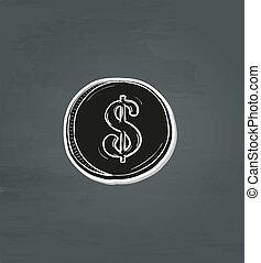 symbol dolara, pieniądz, czarnoskóry