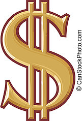 symbol, dollar