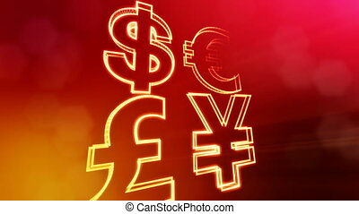 symbol dollar euro pound and yen. Financial background made...