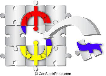 symbol, dollar, pfeil