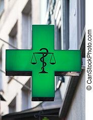 symbol, droglager