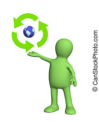 Symbol ecology - Conceptual image - protection of an...