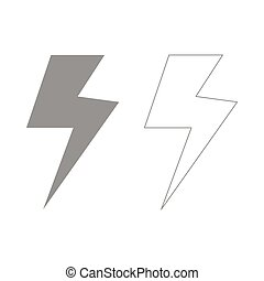 Symbol electricity  set  icon .